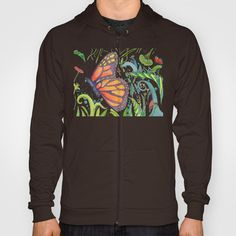 Butterfly Garden Hoody by Catherine Holcombe - $38.00