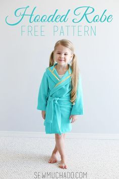 Hooded Robe Free Pattern - would be perfect for a beach coverup! #sewing #DIY #sewmuchado #robepattern #freepattern #pdfpattern #tutorial #beachcoverup