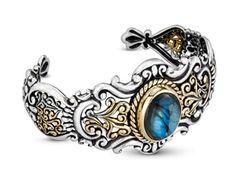 Carolyn Pollack Labradorite Cuff Bracelet in Sterling Silver