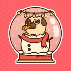 The official Puglie Pug website and store! Cute Animal Drawings, Kawaii Drawings, Cute Drawings, Pug Kawaii, Kawaii Art, Pug Wallpaper, Pug Cartoon, Pug Christmas, Pugs And Kisses