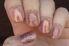 Finger Paints Stardust Blush Comparison Sinful Colors Gilded