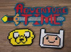 Adventure Time with Finn & Jake Perler Bead Sprite Art by Cyristine