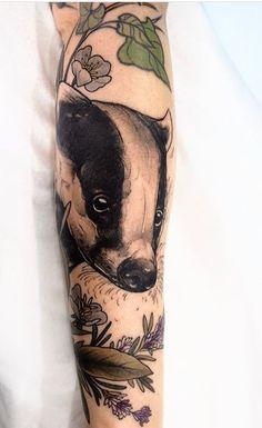 Sophia Baughan badger tattoo