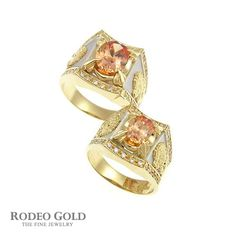 Gold rings with gemstones TCR76481