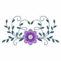 WindBell Embroidery - Heirloom Elegant Flowers -  Oregon Patch Works