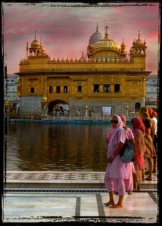 The golden Temple, India.  It is located in Amritsar (meaning: The Pool of the Nectar of Immortality), the holiest city in Sikhism, in the state of Punjab, India.