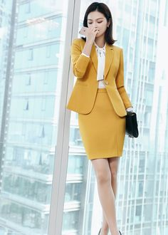 Business Outfits Women, Corporate Outfits, Business Dresses, Classy Outfits, Pretty Outfits, Suits For Women, Clothes For Women, Korean Girl Fashion, Office Outfits