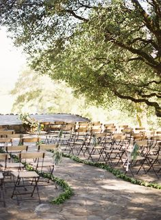 Marilyn and Spencer Napa Wedding | Jose Villa | ceremony chairs