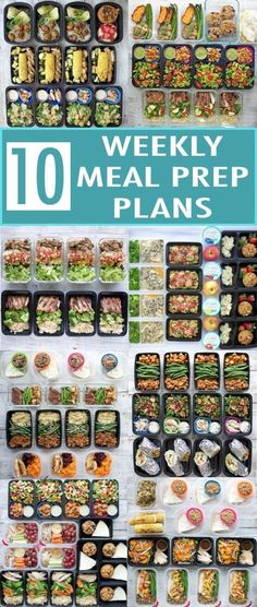 Diet Meal Plans Ten weekly meal prep plans for a healthy new year! I rounded up my 10 most popular meal prep posts from Each one includes a meal plan, recipes, nutrition info, snack ideas, and container recommendations! Lunch Meal Prep, Meal Prep Bowls, Healthy Meal Prep, Healthy Snacks, Healthy Eating, Healthy Recipes, Clean Eating, Meal Prep Containers, Fitness Snacks