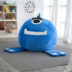 Fluffy Monster Critter Foam Bean Bag Chair - Kids at Hayneedle