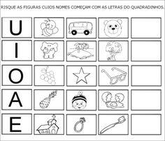 letras vogais para imprimir atividade Playing Cards, Names, Teaching, Veronica, Professor, Blog, Toddler Learning Activities, Sight Word Activities, Letter E Activities