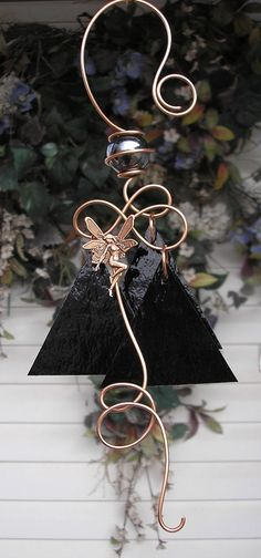 fairy Wind Chimes | Fairy Wind Chimes Copper Garden Art Sculpture by DragonflyDreams1, $29 ...