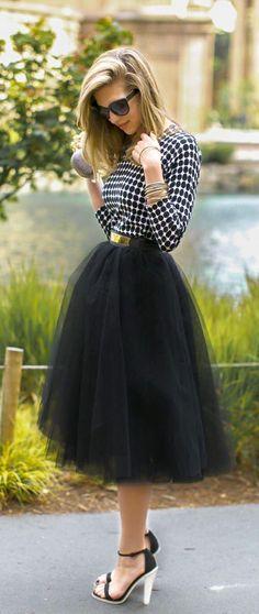 Black & White Chic - Serendipity Tulle Skirt https://www.thechicfind.com/products/serendipity-tulle-skirt