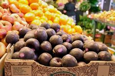 What's the Deal With Black Velvet Apricots? Fruit Stands, Exotic Fruit, Grocery Store, Farmers Market, Black Velvet, Garden, Garten, Lawn And Garden, Gardens