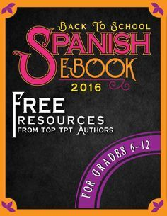 Free Spanish resources, teaching tips, games, activities, lesson plans from top TpT teacher authors! Can't wait to try them all!