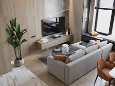 Interior of the living room and kitchen in Moscow on Behance Small Apartment Interior, Small House Interior Design, Small Apartment Decorating, Modern Kitchen Design, Interior Design Kitchen, Living Room Sofa Design, Living Room Interior, Home Comforts, Interior Design Inspiration
