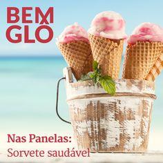 Nada como um belo sorvetinho nesse calor, não é mesmo?  Vem com a gente aprender essa receita pra lá de Bemglô, vem! #bemglo #sorvete #naspanelas
