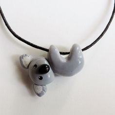 Isn't this little guy just the cutest? Baby #koala just hanging around... Price: $21.99... Where to Buy: alwaysfits.com #handmade #charmnecklace