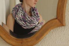 Arm knitting - scaf