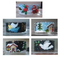2009 Christmas Tea Light Cover Collection #2 Pattern