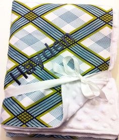 Monogrammed Baby Blanket  Joel Dewberry Picnic by SweetSeraphina, $38.50