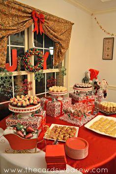 El rojo y el verde de la fiesta de Navidad - las cartas Que nos DIBUJO