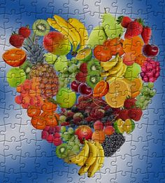 Heart fruits | Puzzle Games Free Online Jigsaw Puzzles, Puzzle Games, Fruit, Wallpaper, Heart, Painting, The Fruit, Wallpapers, Painting Art
