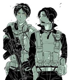 I love Modern Military AUs. Credit for the art goes to Hikoemon
