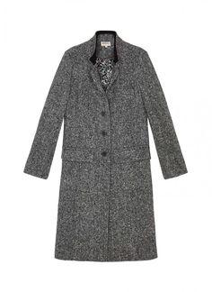 Herringbone Wool Coat - Womens Coats   Brora