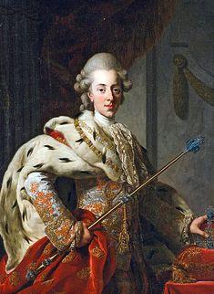 Portrait de Christian VII, roi du Danemark et de Norvège, 1772 Alexander Roslin