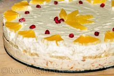 Tort din ciocolata alba si crema de portocale
