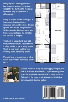 Tiny House Floor Plans: Over 200 Interior Designs for Tiny Houses: Michael Janzen: 8601400546079: Amazon.com: Books