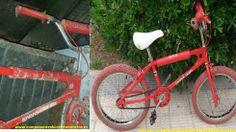 Antes y después de esta BMX Derbi Rabasa. Propiedad de Componentes Bicicleta Baratos en Zaragoza.