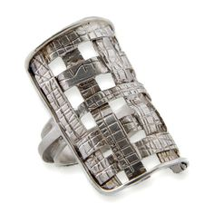 Silver Geometric Ring by HilaBinyamin
