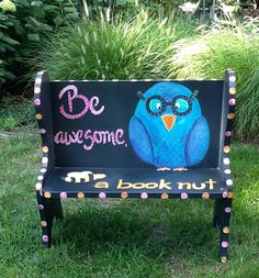 Custom designed children's bench painted just by WallaceWhimsies, $85.00