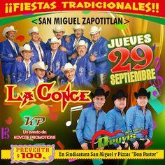 GRUPO MUSICAL LA CONCENTRACION: Hoy Jueves 29 de Septiembre en San Miguel Zapotitl...