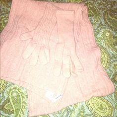 Nordstrom Scarf And Matching Glove Set
