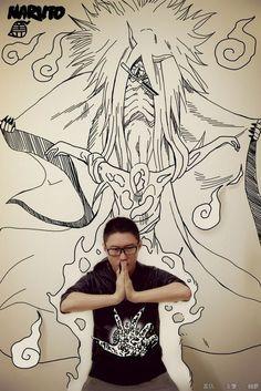 Cool Photos of Artist Trapped in His Own Manga Art Series — GeekTyrant Graffiti Murals, Graffiti Lettering, Manga 3d, Graffiti Creator, Paper Child, Collage Drawing, Perspective Art, Art Series, Memes