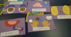 Here are some of our activities that we did to go along with our Five Senses theme.    I found this little book at Kindergarten Nana . ...