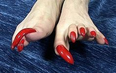 Red Toenails, Long Toenails, Pumps Heels, Stilettos, High Heels, Acrylic Toe Nails, Feet Nails, Diamond Nails, Pretty Toes