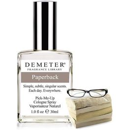 DEMETER: PAPERBACK COLOGNE SPRAY.  I really love their fragrances.  This seems interesting enough to look for.