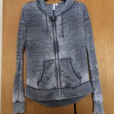 Lightweight hoodie! New! Must go! New w/o tags! Grey marled print! So soft and perfect for spring and summer, says small but would fit a medium, maybe a smaller large! Make me an offer! Hang ten Sweaters