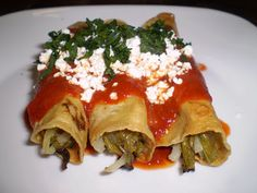 Enchiladas de nopales