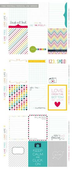 kristy.makes: project life: free printables