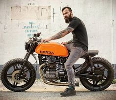 Honda Brat by Woodgates Motorcycles Cx500 Cafe Racer, Cb 450 Cafe Racer, Honda Scrambler, Honda Cx500, Cafe Racer Style, Cafe Racer Motorcycle, Moto Bike, Motorcycle Outfit, Cafe Bike