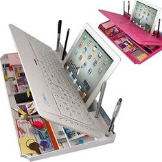 Check out this Bluetooth Keyboard With Organizer! Not only will it hold all your…