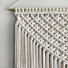 Made to order Macrame Wall Hanging. Always one of my favorites to work on. ✨