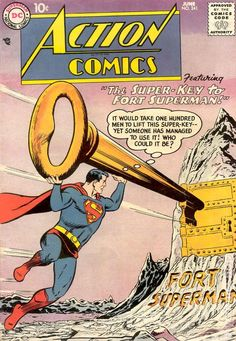 Our celebration of Action Comics' debut moves into the Silver Age — with Curt Swan! Dc Comic Books, Comic Book Artists, Comic Book Covers, Comic Art, Old Superman, Superman Comic, Superman Stuff, Superman Family, Superman Logo