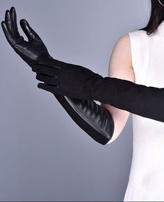 Long Goatskin Suede Glove