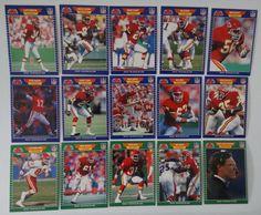 1989 Pro Set Series 1 Kansas City Chiefs Team Set of 15 Football Cards #KansasCityChiefs